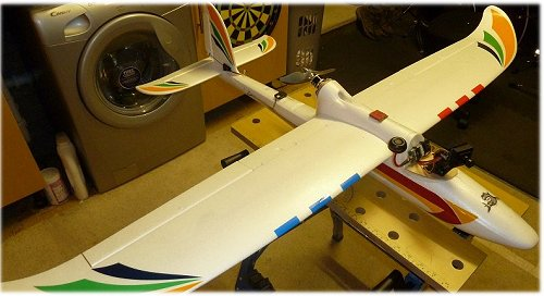 My Hobbyking Bixler2 FPV equipped electric glider