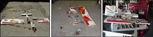 RC plane crashes