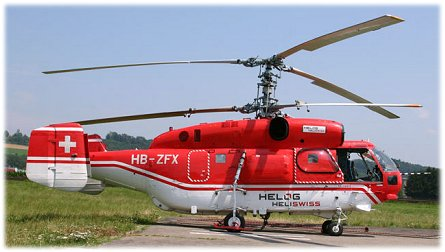 A dual rotor Kamov helicopter