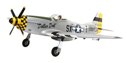 The P-51 is a well modelled electric rc plane