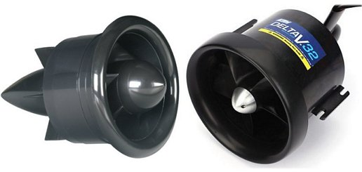 Electric ducted fan, or EDF, units for an electric rc jet