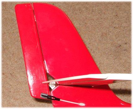 My custom-made Freebird rudder