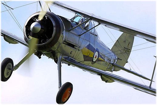 The Gloster Gladiator biplane