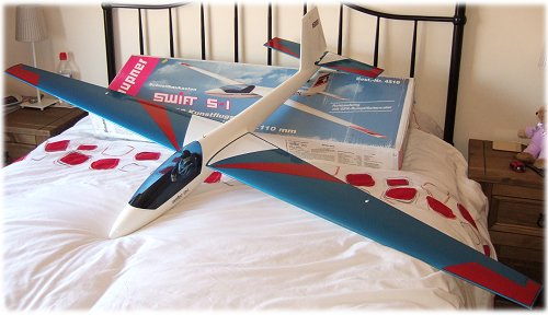 My Graupner Swift S-1 rc glider