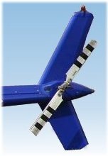 A helicopter tail rotor