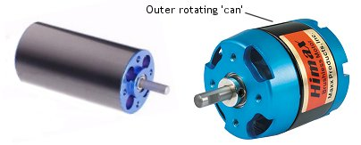 An inrunner and outrunner brushless motor