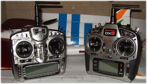 My two radios - JRDSX9 and Spektrum DX8
