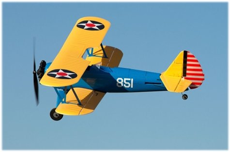The PY-17 Stearman micro rc airplane