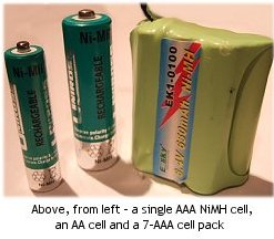 Separate electric rc NiMH cells and a battery pack