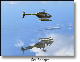 Phoenix RC flight simulator screenshot - Sea Ranger helicopter
