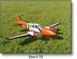 Phoenix RC flight simulator screenshot - Beech 58