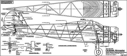 RC Cessna Airmaster plan sample 1