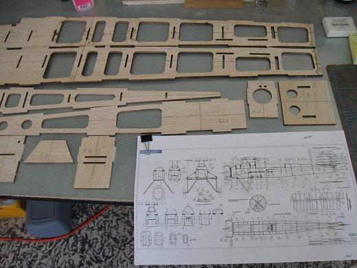 RC Fairey Swordfish parts