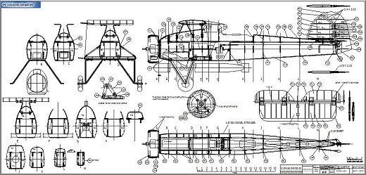 RC Fairey Swordfish plan sheet sample