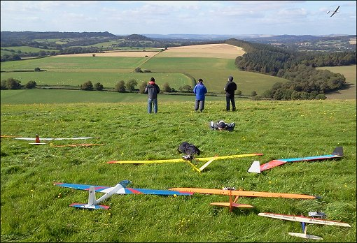 RC gliding in Wiltshire