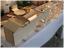 RC Gloster Gladiator build with laser cut parts