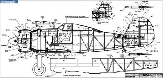 RC Gloster Gladiator plan sample 1
