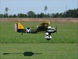 The P-6E Hawk landing