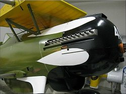 Cowl and exhaust detail of Bobs rc Curtiss P-6E Hawk
