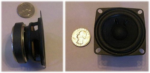 An rc plane sound module speaker