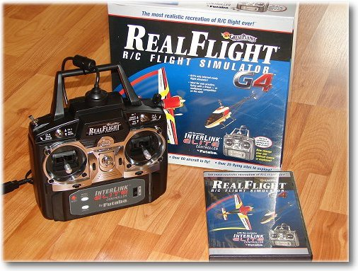The RealFlight G4 RC flight simulator