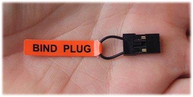 Receiver bind plug