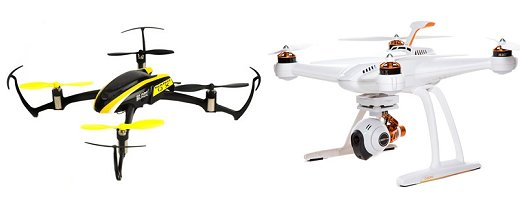 Beginner rc drones come in many sizes