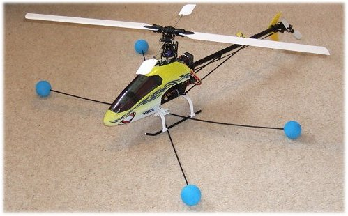 Fit training gear to your rc helicopter
