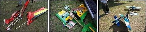 RC airplane crash photos