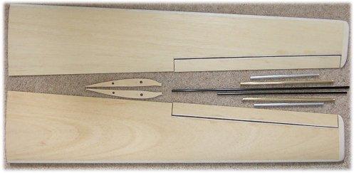 Foam core & obechi veneer FlyFly Freebird wing panels