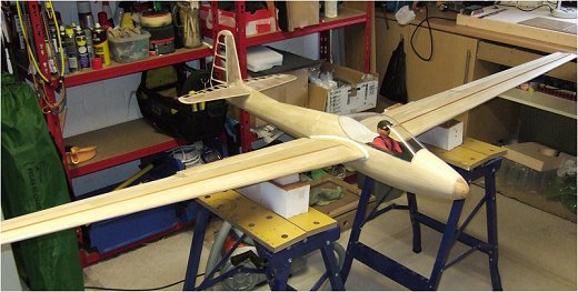 Finally ready for covering - my rc Lunak glider!