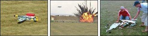 Pyrotechnics flight goes bad