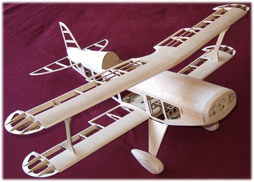 A traditional balsa model airplane kit