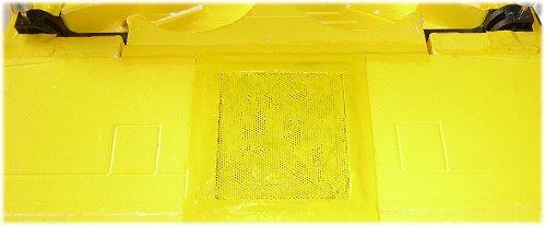 Mesh sheet over speaker
