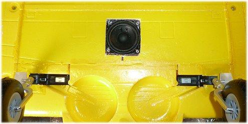 Speaker hole in wing