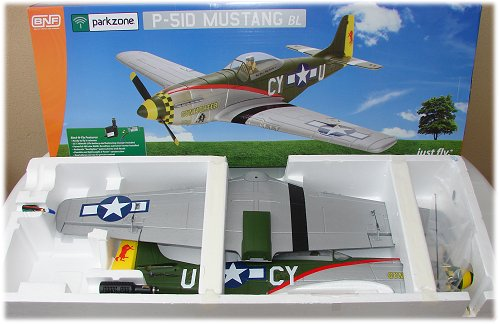 The P-51D BL BNF in the box