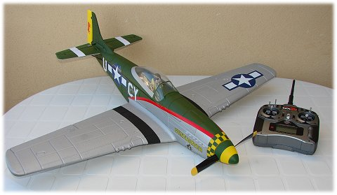 The ParkZone P-51D BL BNF Mustang