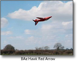 Phoenix RC flight simulator screenshot - Red Arrow Hawk