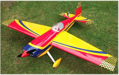 A typical rc aerobatic airplane