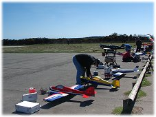 Flying at an rc airplane club