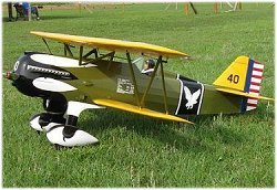 Large scale RC Curtiss P-6E Hawk plan