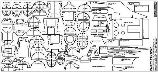 RC Fairey Fantome plan sheet sample