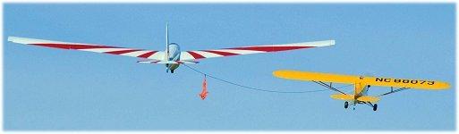 Launching rc gliders - aerotow
