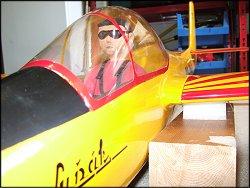 My hand-carved balsa pilot