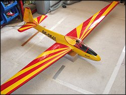 My finished RC Lunak glider - a very pleasing build.