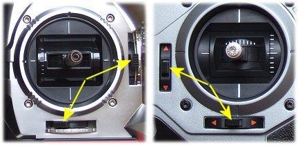 Digital and analogue rc transmitter trims